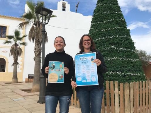 Las conselleres de Territori i Turisme, Alejandra Ferrer, y de Cultura, Susana Labrador, tras la presentación del programa.
