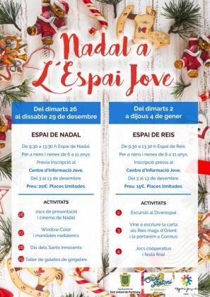 Cartel de las actividades de Navidad en Sant Antoni.