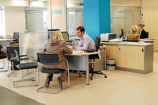 En la imagen, una de las oficinas de Cajamar.