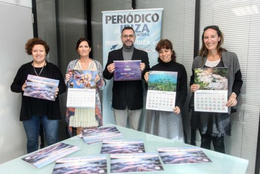 De izq. a dcha., Helena Burguete, Sonia Escribano, Joan Miquel Perpinyà, Sandra Benbeniste y Annabelle Bernard