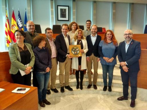 Rueda de prensa en el Consell Insular d'Eivissa, con la ausencia del president, Vicent Torres, que no pudo acudir al acto.