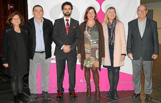 Caterina Mas, Gabriel Sancho, Ismael Gutiérrez, Francina Armengol, Patricia Gómez y Juli Fuster.