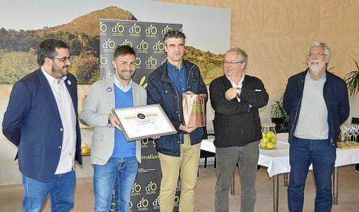 Vicenç Vidal, Daniel Arias, Sebastià Solivellas, Lluís Socias y Mateu Ginard.