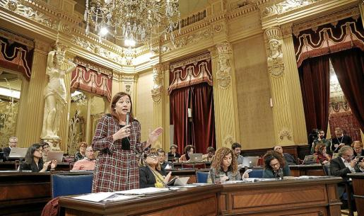 Armengol obvió la situación andaluza en la sesión del Parlament.