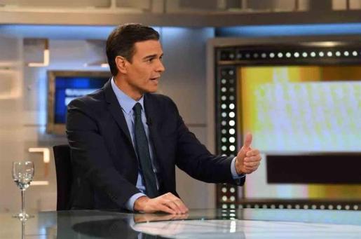 Pedro Sánchez, ayer en Informativos Telecinco.