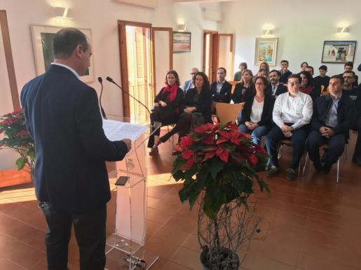 Jaume Ferrer, durante su discurso en el aniversario de la Constitución.