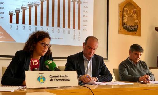 Catalina Cladera, Jaume Ferrer y Bartomeu Escandell