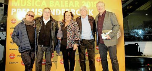 Joan Bibiloni, Ramon Muntaner, Miquela Lladó, Joan Ramon Bonet y Lluís Gendrau.