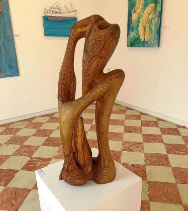 En la exposición se puede ver, hasta el 5 de enero, escultura y pintura en distintos formatos.