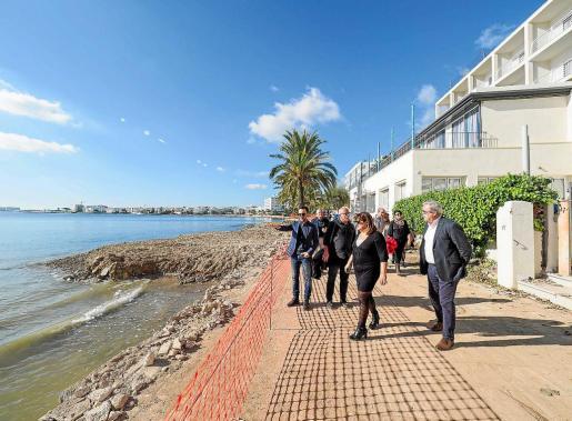 Rafa Ruiz visitó la zona de obras con la consellera Bel Busquets y el presidente Vicent Torres.