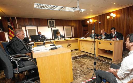 Imagen del juicio celebrado el pasado 3 de julio en el juzgado de lo Penal número 2 de Ibiza.