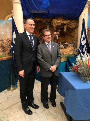David Conde, director de la Territorial Este de BBVA, y Llorenç Huguet, rector de la UIB. e