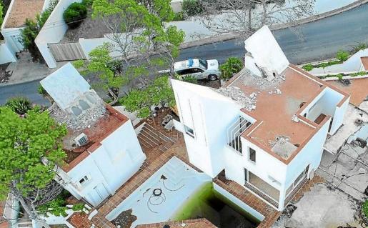 Imagen aérea de la casa Van der Driesche, localizada en Cala Molí.