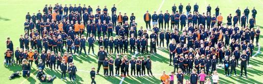 Imagen de las distintas plantillas de La Unió Esportiva Sant Josep.