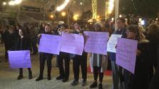 Clamor ciudadano en Vila contra la violencia machista y el asesinato de Laura Luelmo.