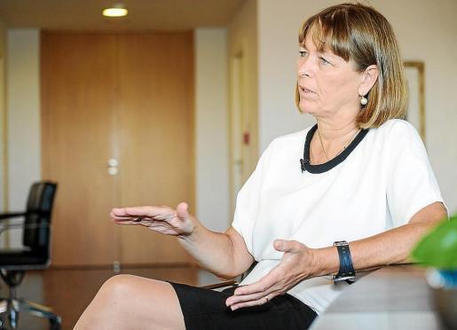 Virginia Marí Rennesson durante una entrevista