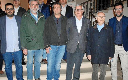 Vicenç Vidal, Jaume Vich, Pere Calafat, Josep Lluís Roses, Baltasar Bibiloni y Antoni Noguera.