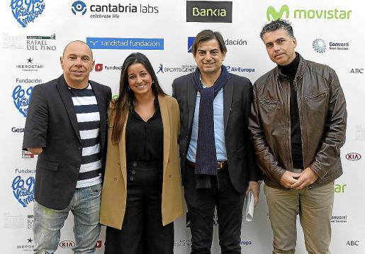 Xavi Torres, Paloma Valverde, Sebastián Font y Aitor Ortega.