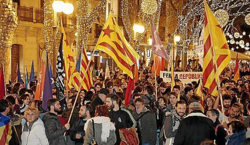 Imagen de la manifestación independentista del 30-D.