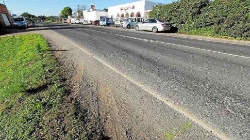 El accidente se produjo en este punto de la carretera de Santa Eulària sobre las 22:30 horas del día de Año Nuevo.