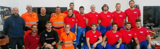 Imagen de la plantilla de bomberos de Formentera.