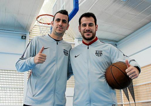 Sergi Brugué y Andreu Ollero, entrenadores de la cantera del Barça.