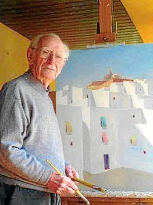 Una de las últimas fotos con vida del genial pintor Ferrer Guasch.