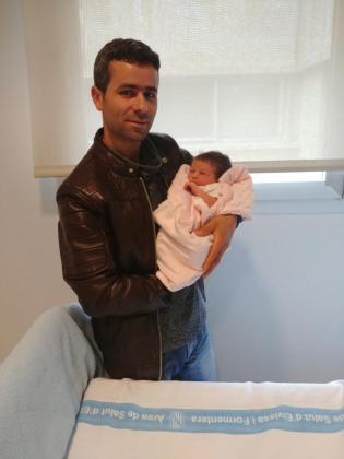 Marwa nació con 3,5 kilogramos