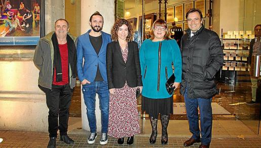 Tolo Aguilar, Baltasar Picornell, Rosario Sánchez, Bel Busquets y Francesc Miralles.