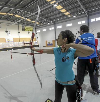 Una imagen de un Campeonato de Balears celebrado en la galería de tiro con arco de es Cubells.