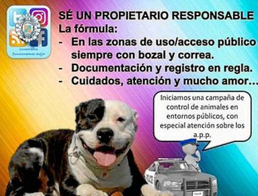 La Policía Local difundió la campaña en sus redes sociales.