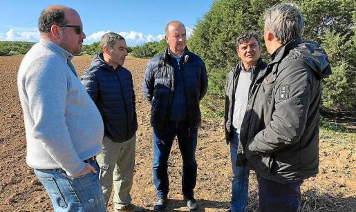 Ayer se llevó a cabo una visita institucional a la finca de Can Marroig.