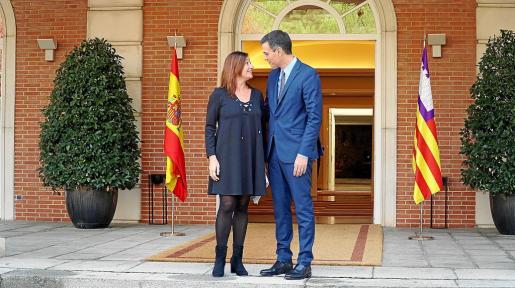 Imagen de archivo de una reunión de la presidenta Francina Armengol con Pedro Sánchez.
