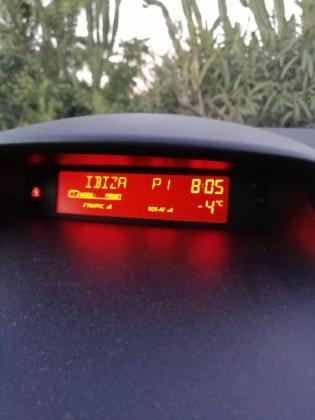 El termómetro marcaba hasta 4 grados bajo cero en Santa Gertrudis a las 8.00 horas de este sábado.