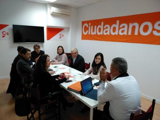 José Luis Rodríguez, coordinador del comité insular, durante la reunión autonómica de la formación naranja celebrada este sábado.