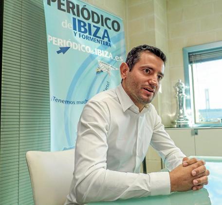 Marcos Serra atendió al Periódico de Ibiza y Formentera en la sede de Grupo Prensa Pitiusa.