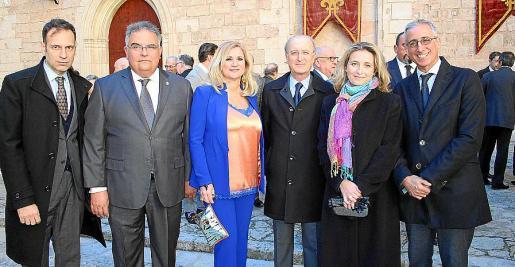 Pedro Vidal, Bartomeu Barceló, Marta Díaz, Antoni Terrassa, Sonia Vidal y Diego Gómez-Reino.