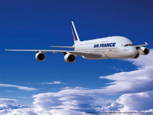 Imagen de un avión de Air France.