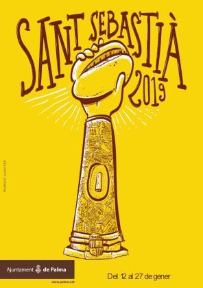 Cartel de las fiestas de Palma Sant Sebastià 2019.