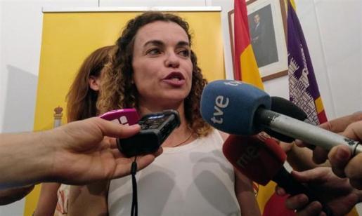 La delegada del Gobierno en Baleares, Rosario Sánchez, ante los medios el pasado mes de junio.