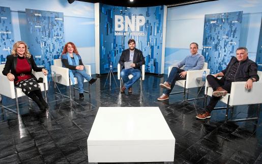 Marta Díaz (PSOE), Viviana de Sans (Podemos), Àlex Minchiotti (PP) y Toni Roldán (Proposta per Eivissa) participaron en el debate de ayer.