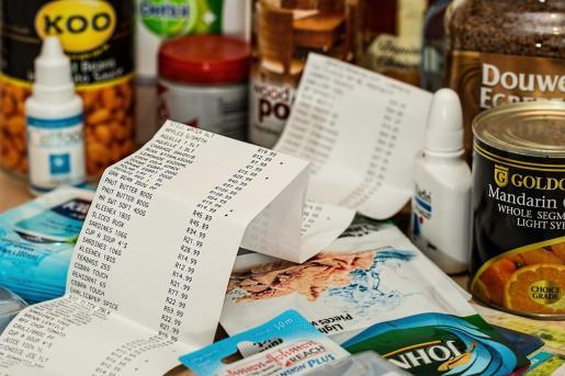 Imagen genérica de un ticket de la compra.