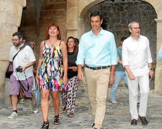 Armengol, Sánchez y Torres, en una visita a Ibiza.