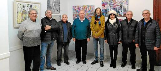 Sion Vives, Juan Fullana, Pedro Artigue, Llorenç Femenias, José Aranda, Ana Mascaró, Joan Femenies y Jaume Amer.