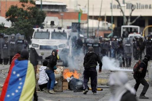 Imagen de las protestas en Venezuela.