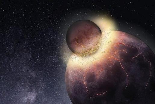 La colisión que formó la Luna pudo hacer viable la vida en la Tierra.