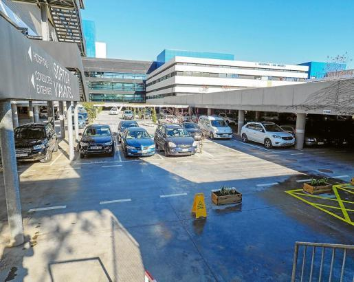 Imagen del aparcamiento del Hospital, gratuito desde el pasado 1 de enero.