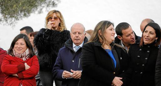Pep 'Cires' y Cristina Ribas, juntos, en la celebración del día de Santa Agnès.