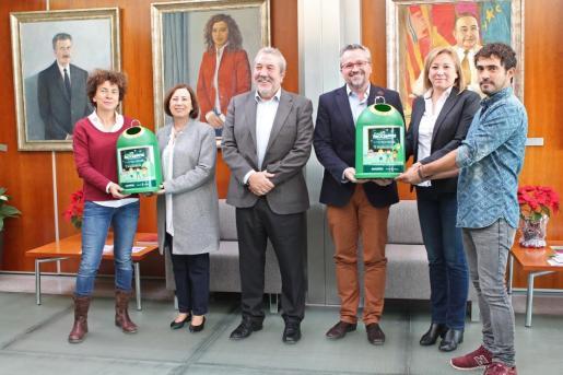 Ayer se presentaron en el Consell los datos de reciclaje de vidrio de la isla de Ibiza.