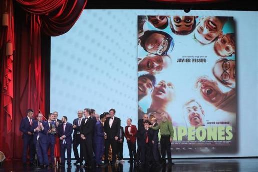 'Campeones', escrita por el ibicenco David Marqués, gana el Goya a mejor película.